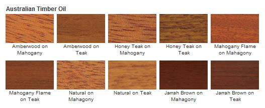 Cabot 3400 Series Australian Timber Oil Color Options