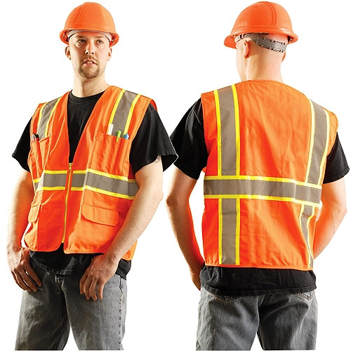 Occunomix Hi-Viz Orange Class 2 Vest - 3XL