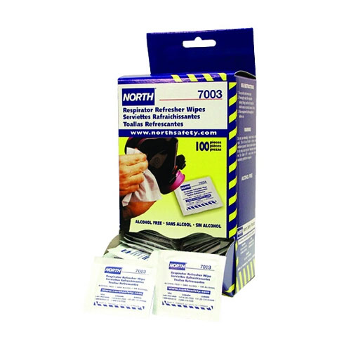 North Respirator Refresher Wipes 7003 - Box of 100
