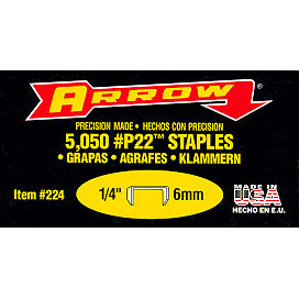 Arrow P22 Staples, 5/16in