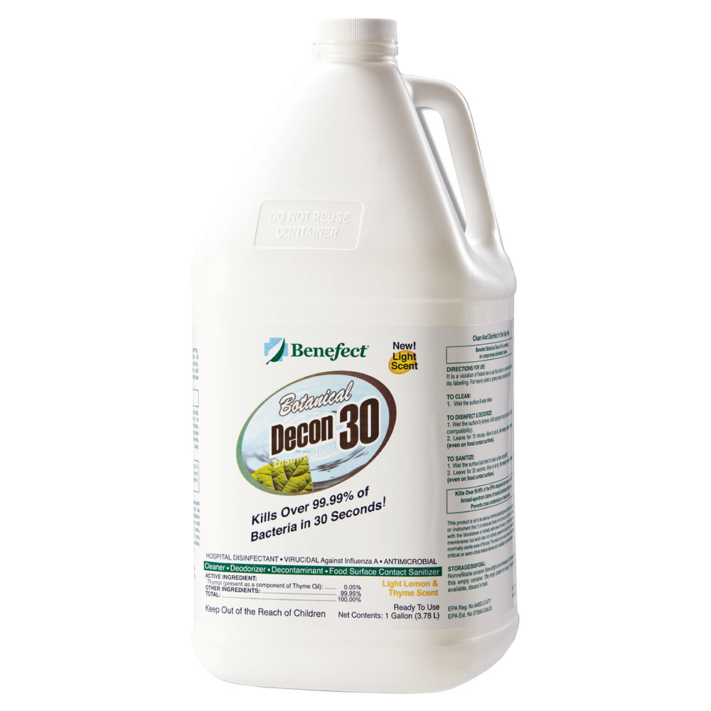 Benefect Decon 30 Disinfectant, Kill 99.99% of Germs in 30 Seconds, 1 Gallon