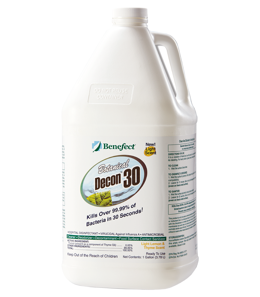 Benefect Decon 30 Disinfectant 1 Gal