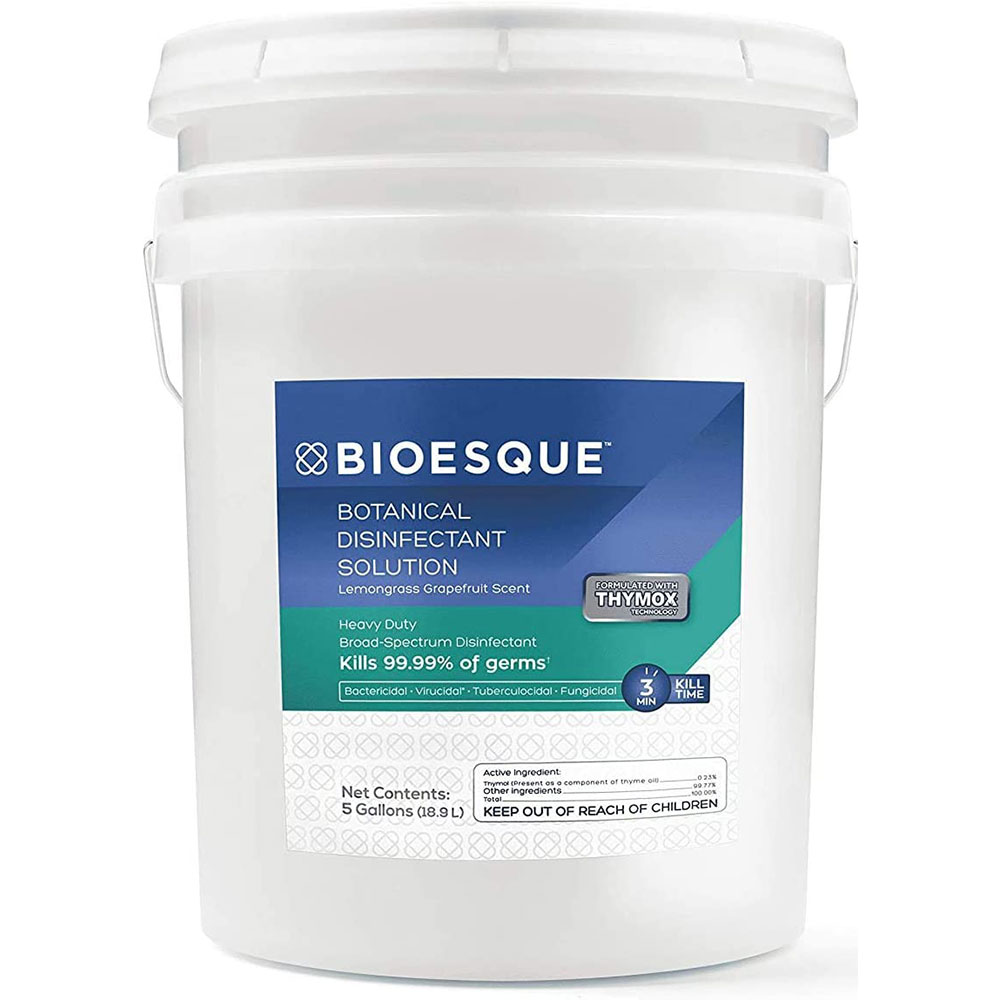 Bioesque Botanical Disinfectant Solution, Kills 99.9% of Bacteria, 5 Gallons