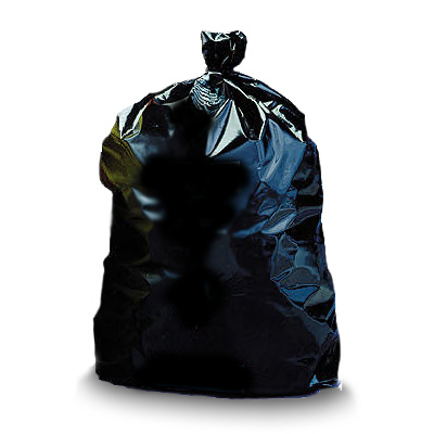 "Asbestos Disposal Bags - 3.5 Mil 33"" x 50"" Black Non-Printed"