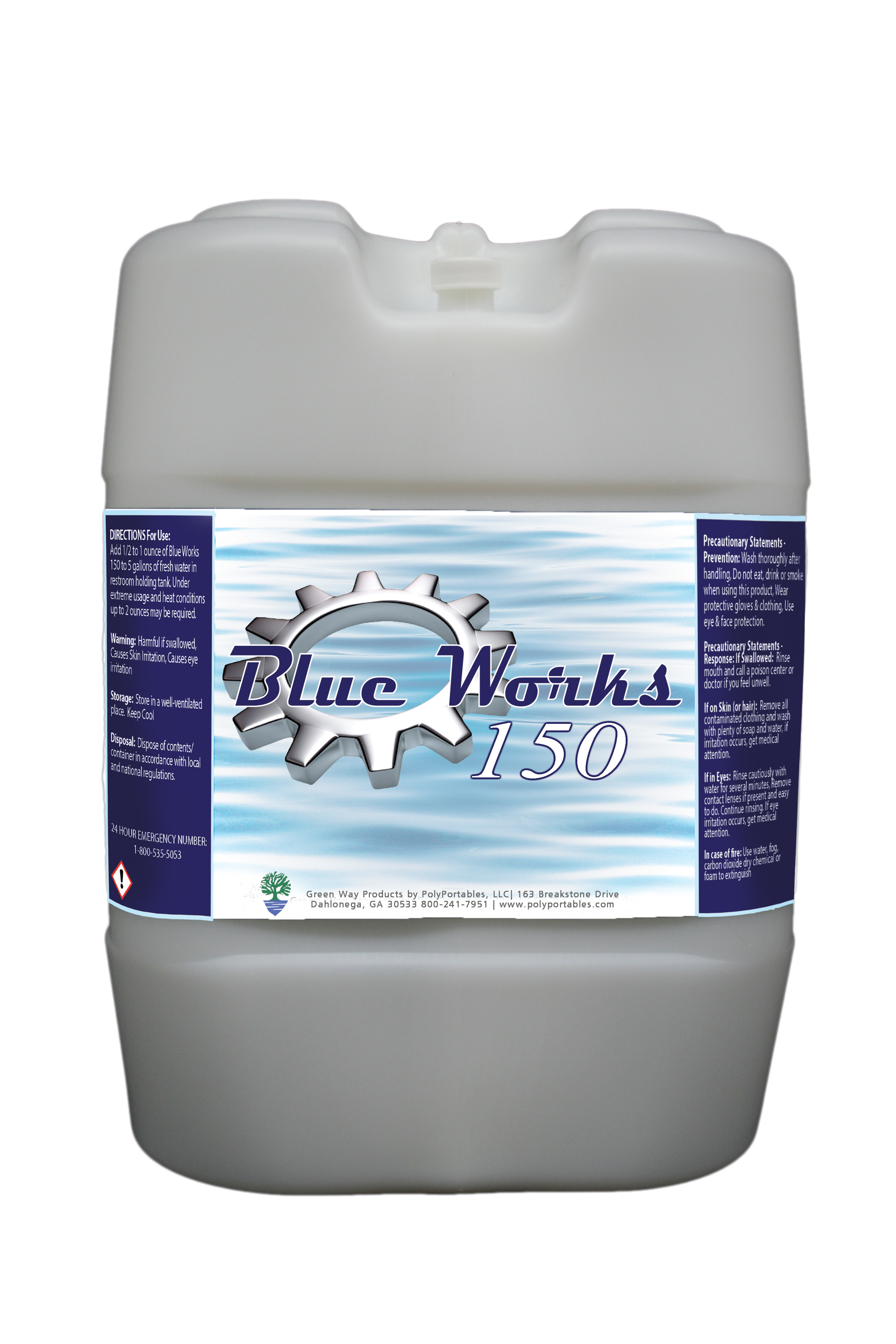 PolyPortable Blue Works 5 Gallon Mulberry - GWBW150MB-05