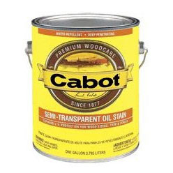 Cabot 0300 - Exterior Wood Stain - Semi Transparent Colors, 1 Gallon