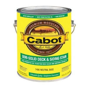 Cabot 1400 Semi Solid Deck Stain - Exterior Wood Finish, 1 Gallon - Neutral Base Color Selection