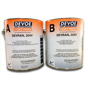 Devran® 224v Colored Epoxy - High Build Solvent Based 400+ sq ft