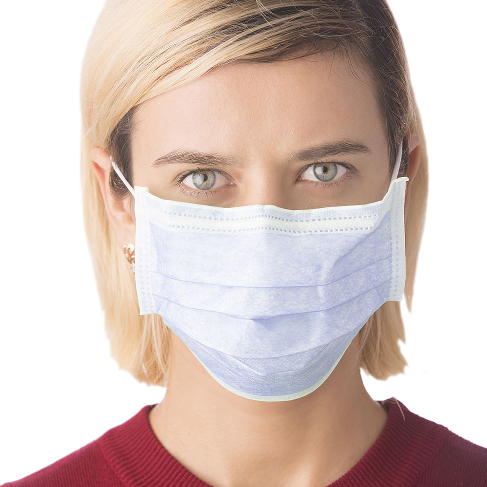 Cordova Safety Disposable 3-Ply Face Mask with Elastic Ear Loops, ELM100, 50 Masks per Box