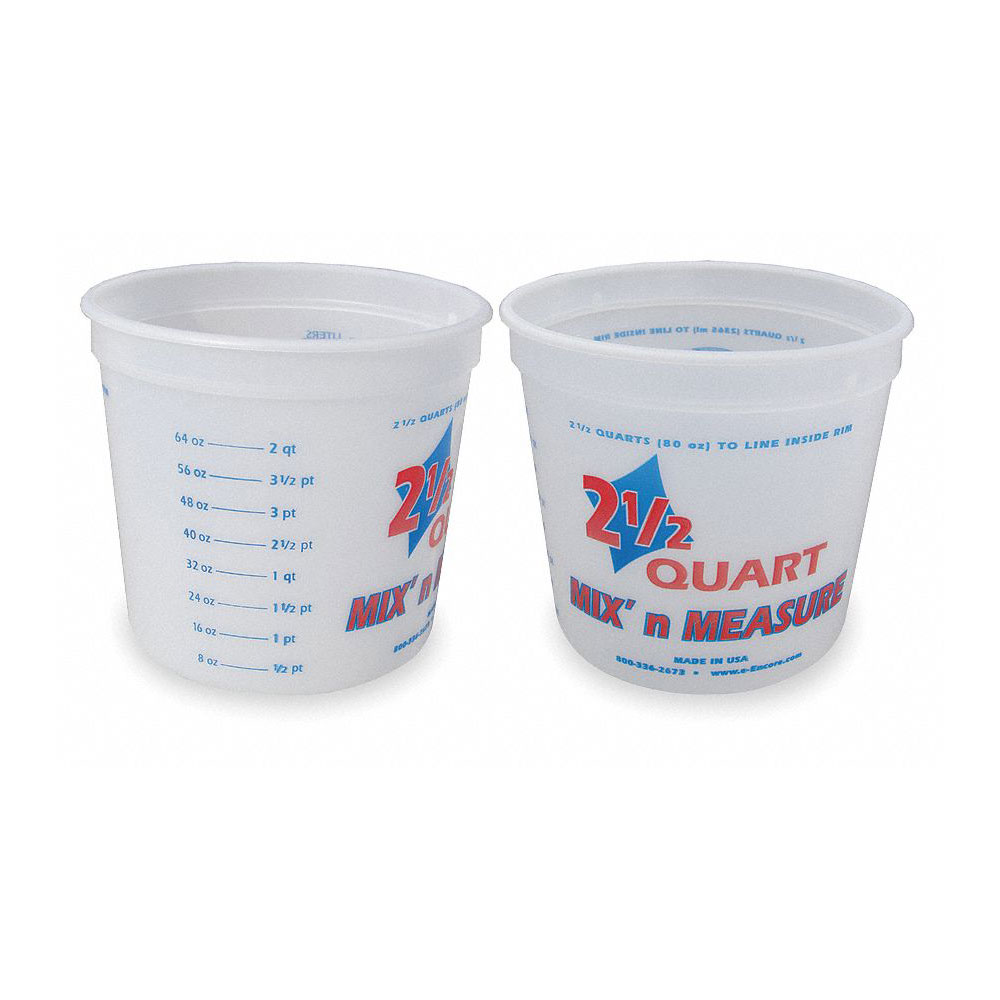 Encore 2 1/2 Qt Mixing Container W/ Graduations - Pack of 25