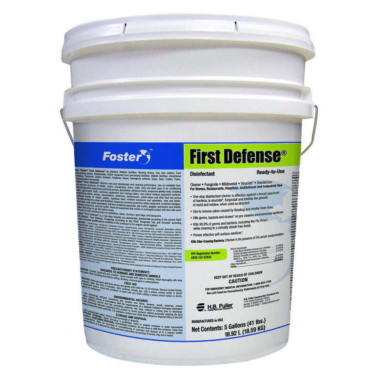 Foster First Defense 40-80 Ready-to-Use Disinfectant, EPA Registered, 5 Gallons