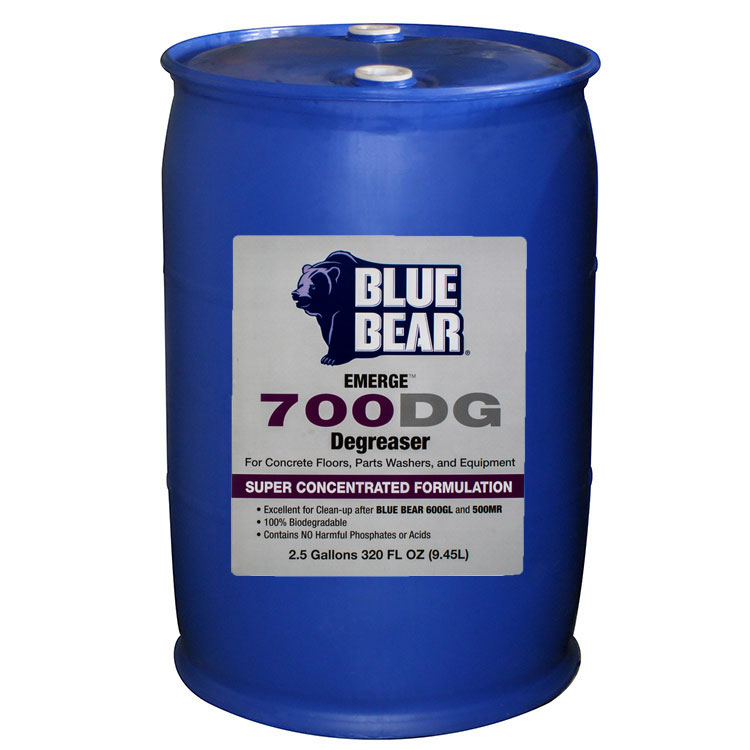 Blue Bear 700DG Degreaser - Adhesive Remover - Bulk 55 Gallon Drum