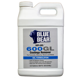 Blue Bear 600GL Coatings Remover (SOY-Gel) - 2.5 gallon