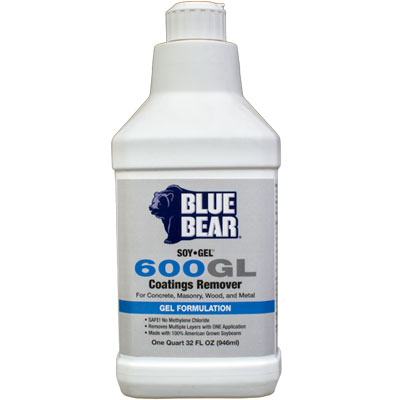 Blue Bear 600GL Coatings Remover (SOY-Gel) - Quart
