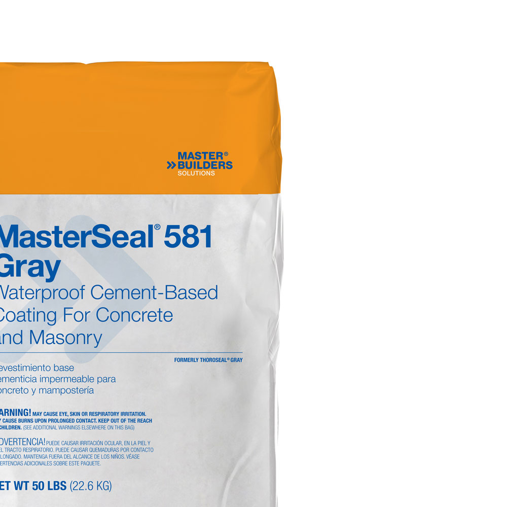 MasterSeal 581: Waterproof Cement-Based Coating for Concrete