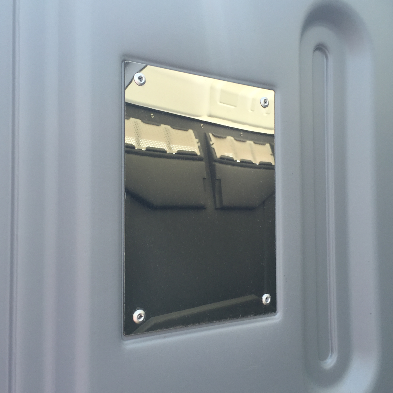 PolyPortable Stainless Steel Mirror - for Port a Potty