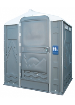 PolyPortable Restroom - Port a Potty - Gray Senator PPSENT-05