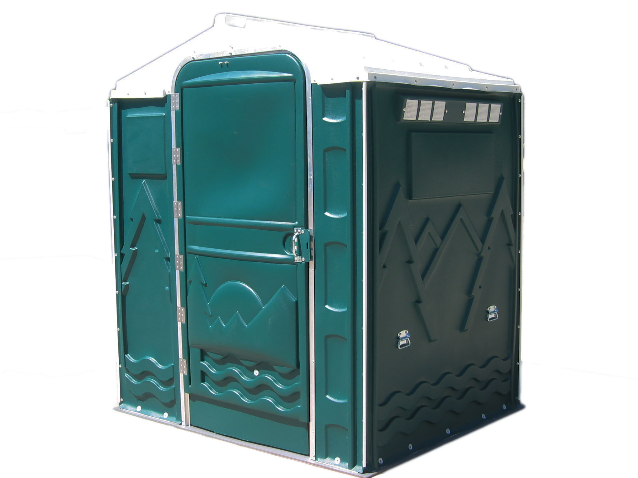 PolyPortable Restroom - Port a Potty - Green Senator PPSENT-06