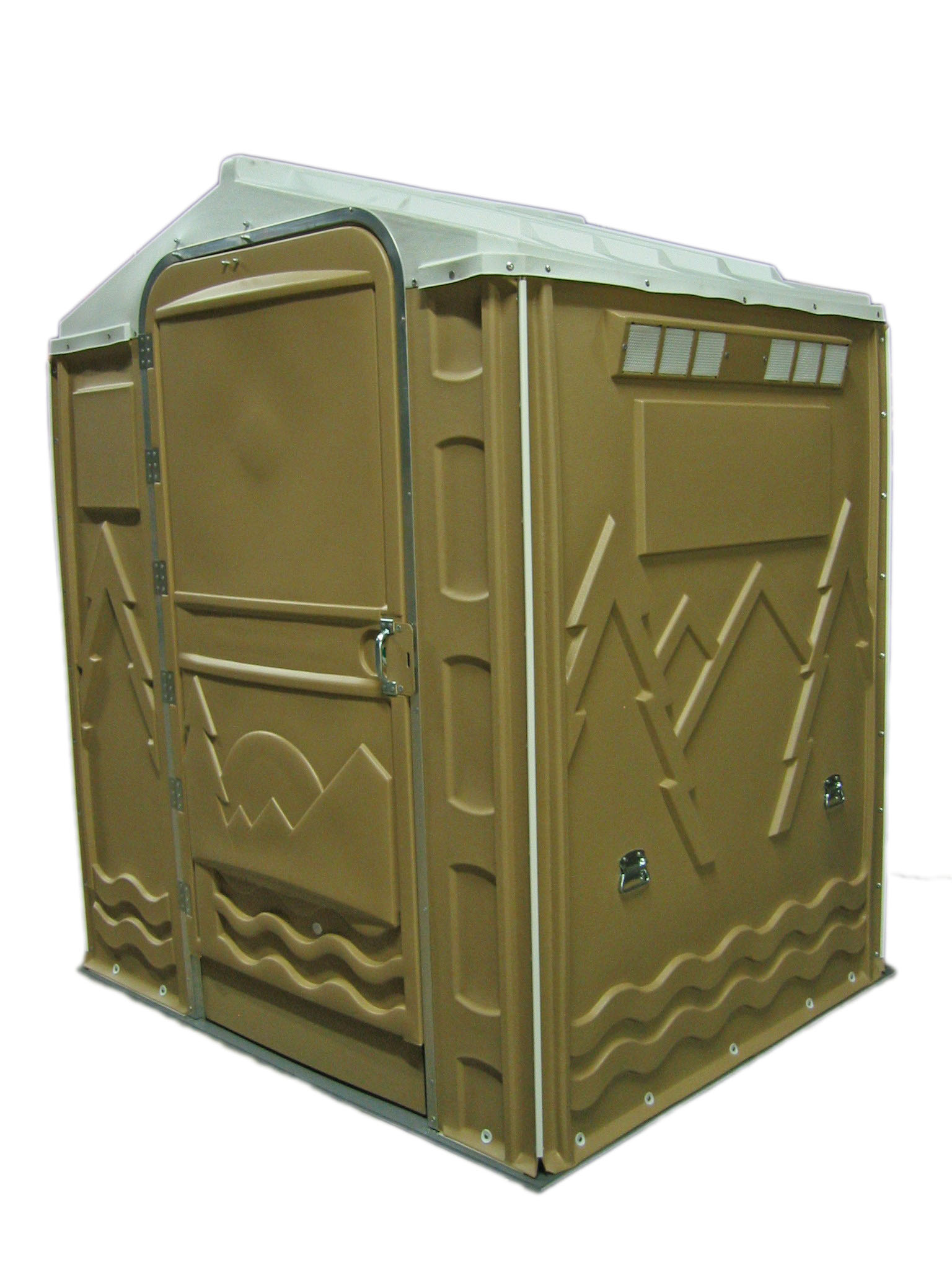 PolyPortable Restroom - Port a Potty - Tan Senator PPSENT-13