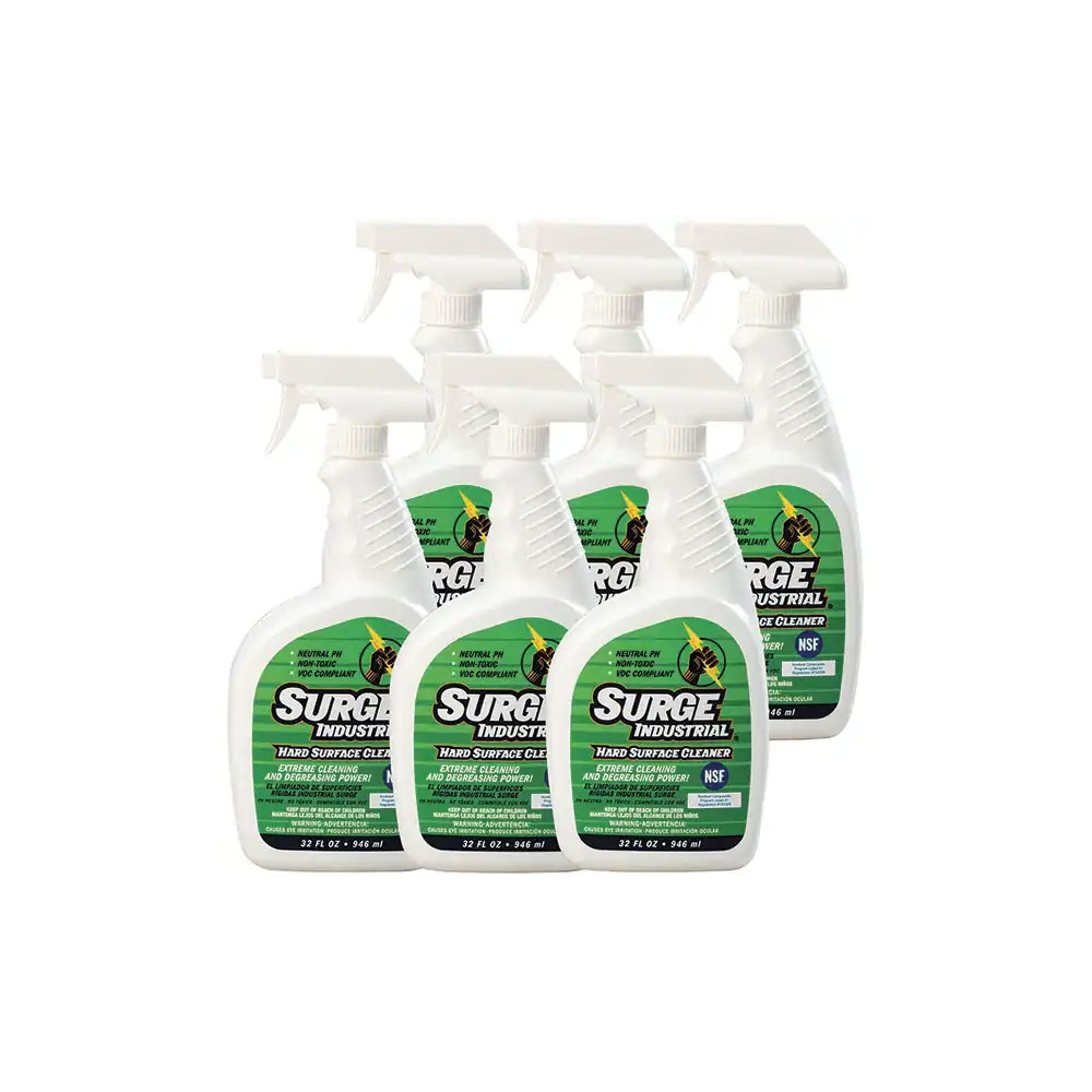Surge Industrial Hard Surface Cleaner, 32 fl oz Spray, SIH 0032, Case of 6