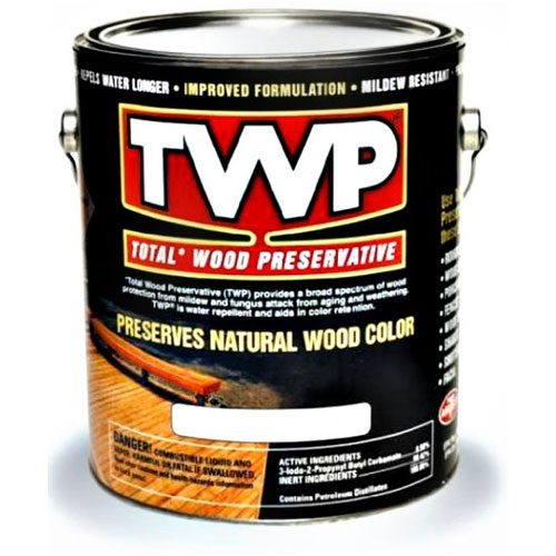 TWP® 100 Wood Preservative - Oil Stain, 1 Gallon, Semi-Transparent - 100 Clear