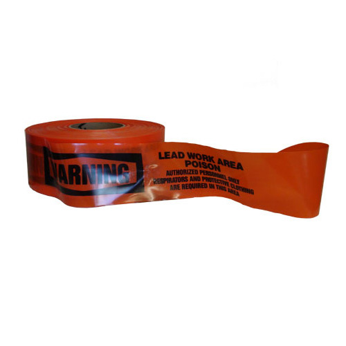 Barricade Tape, WARNING LEAD WORK AREA