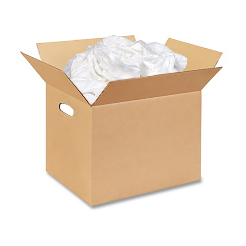 White Cloth Wiper Rags - 10lb Box