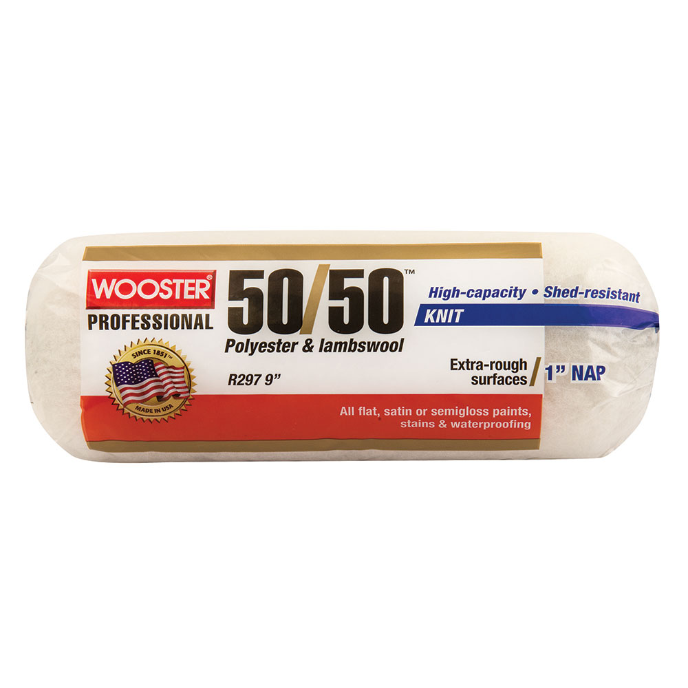 "Wooster 50/50 Roller Skin Cover 9""x1"" - Case of 10"