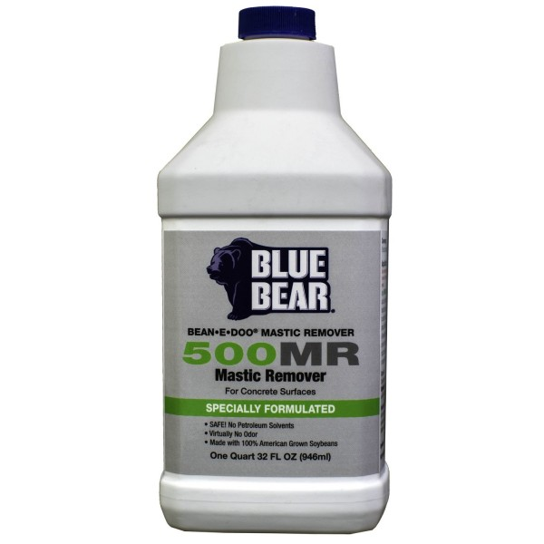 Blue Bear 500MR Mastic Remover - Adhesive Stripper - Bean e doo - 1q