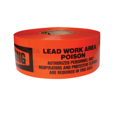 """Warning Lead Work Area"" Caution Tape - Safety Banner - 3'' x 1000'"
