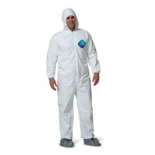 Disposable Spun Poly Coveralls with Hood