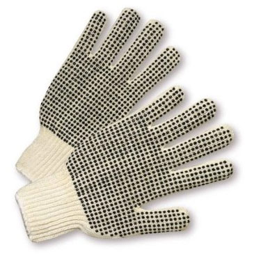 West Chester String Knit Gloves W/PVC Dots 708SKBS (dozen)