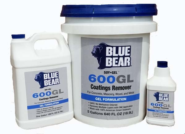 Soy Gel Paint Remover Blue Bear 600 GL