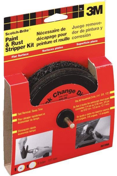 3M Scotch-brite Flat Surface Paint & Rust Stripper, 5""