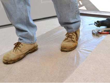"""SURFACE SHIELDS  Carpet Self-Stick Plastic Carpet Protection 24/"""" x 200/'"""