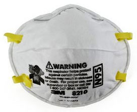 3M 8210 N95 Disposable Particulate Respirator Masks