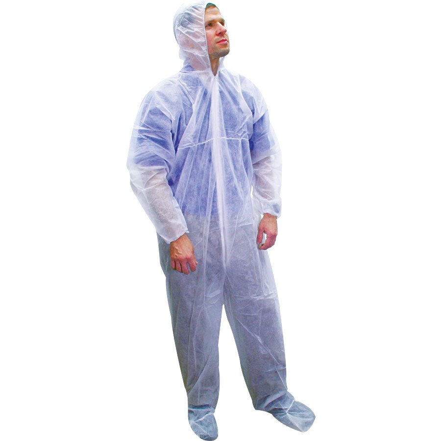 Tyvek Coverall with Elastic Wrists and Ankles (L & 3XL case) 1417
